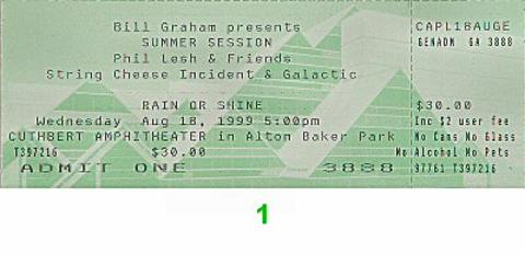Phil Lesh & Friends Vintage Ticket
