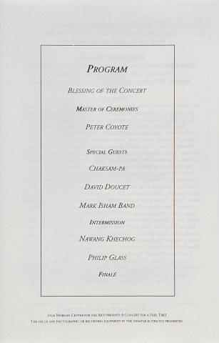 Philip Glass Program reverse side
