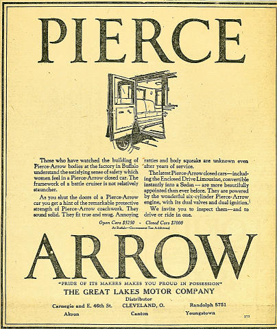 Pierce-Arrow Vintage Ad