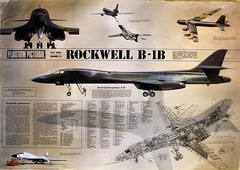 Plaistow Pictorial Fact Sheet Number Eighteen Rockwell B-1B Poster