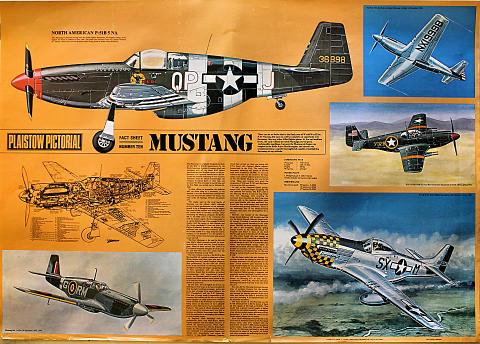 Plaistow Pictorial Fact Sheet Number Ten Mustang Poster