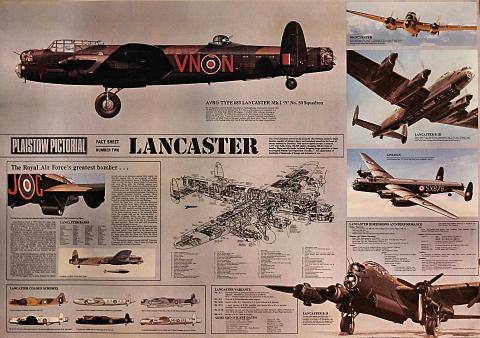 Plaistow Pictorial Lancaster Fact Sheet Poster