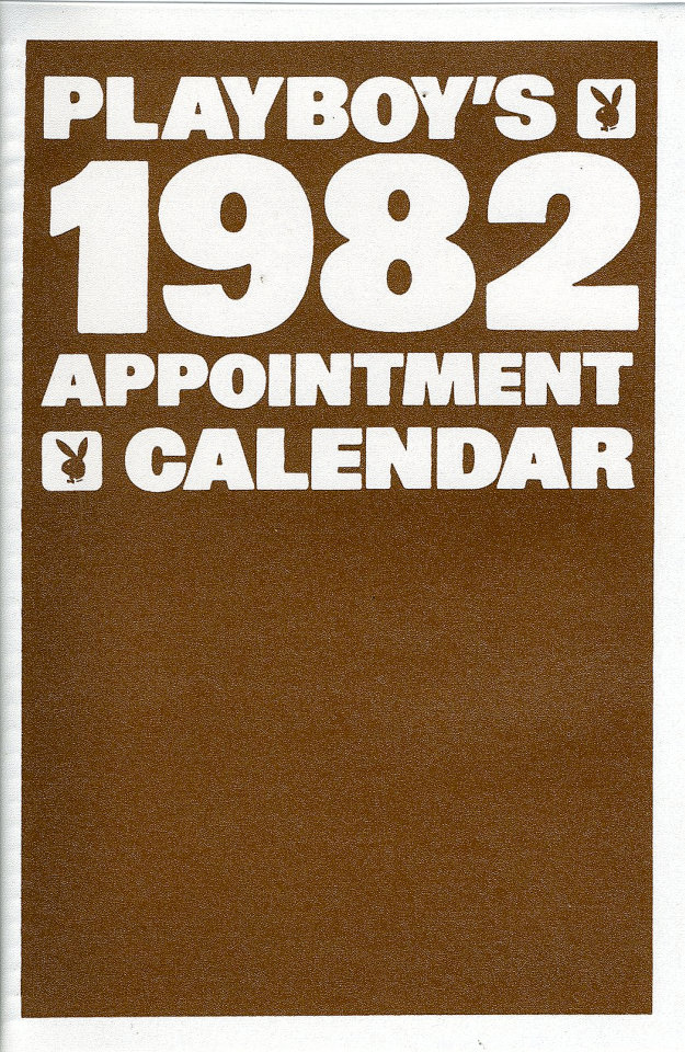 Playboys 1982 Appointment Calendar Calendar 1982 At Wolfgangs