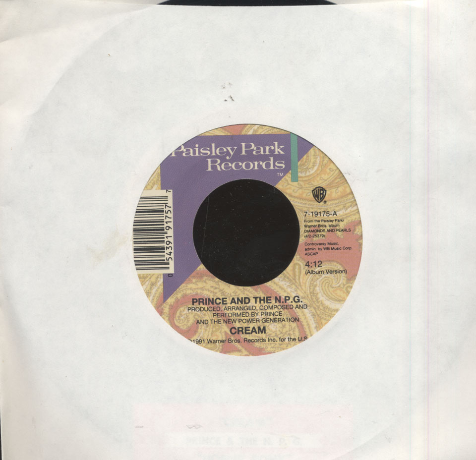 """Prince and The N.P.G. (The New Power Generation) Vinyl 7"""" (Used)"""