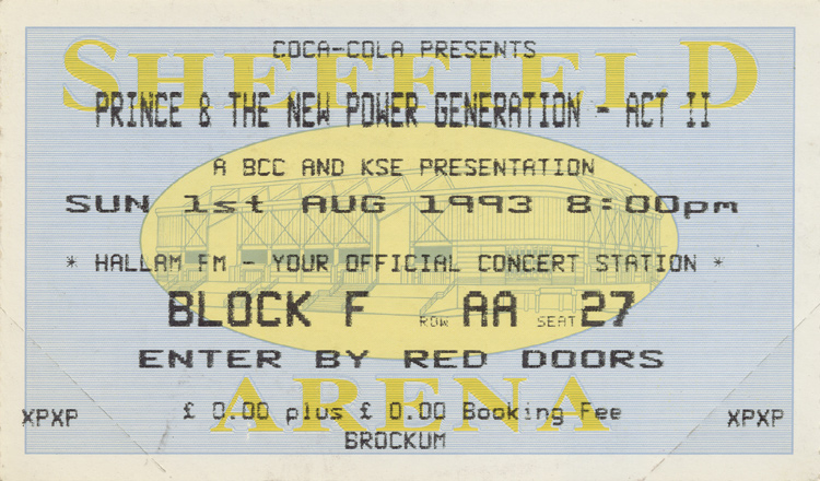 Prince & the New Power Generation Vintage Ticket