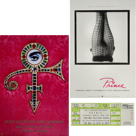 Prince Poster/Ticket Bundle