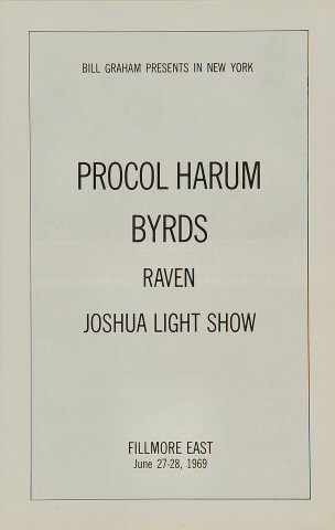 Procol Harum Program reverse side
