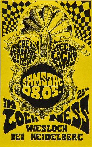 Progressive and Psychedelic Night Handbill