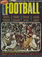 Pros Football 1970 Magazine