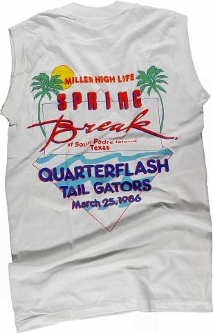 Quarterflash Men's Vintage T-Shirt reverse side