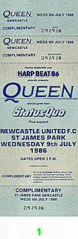 Queen Vintage Ticket