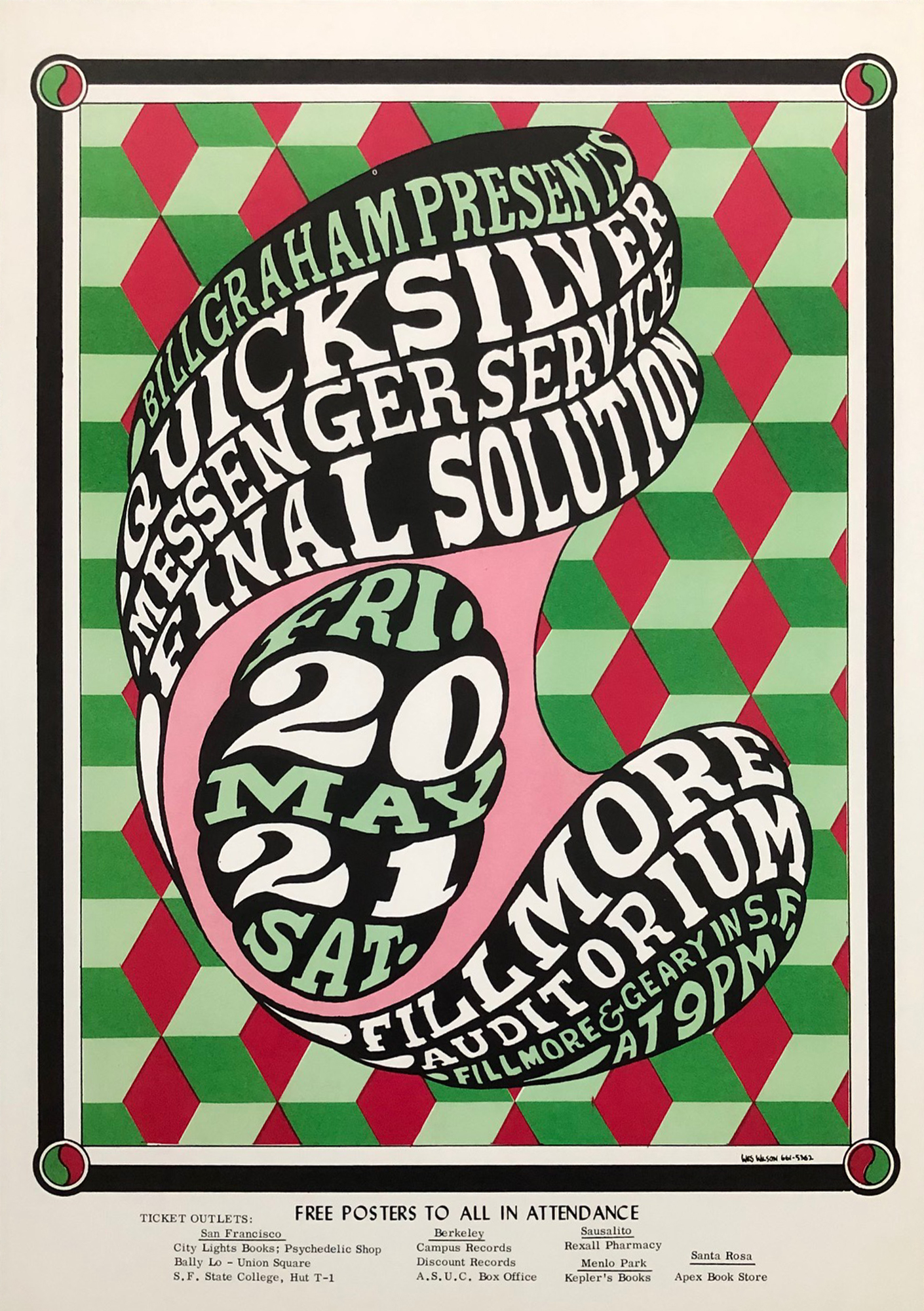 Quicksilver Messenger Service Poster from Fillmore ... Quicksilver Messenger Service Poster