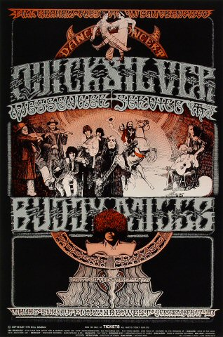 Quicksilver Messenger Service Poster from Fillmore West ... Quicksilver Messenger Service Poster