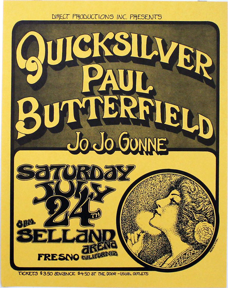 Quicksilver Messenger Service Poster from Selland Arena ... Quicksilver Messenger Service Poster