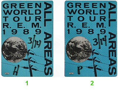 R.E.M. Backstage Pass