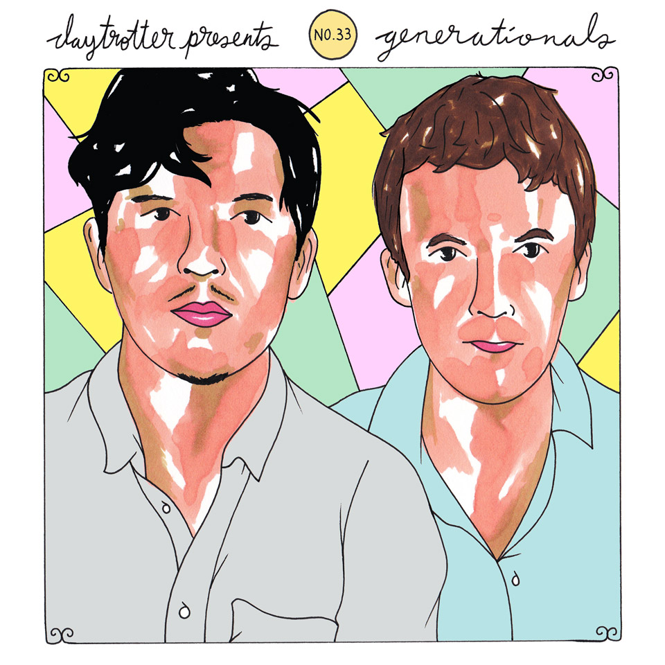 "Ra Ra Riot / Generationals Vinyl 12"" (New) reverse side"