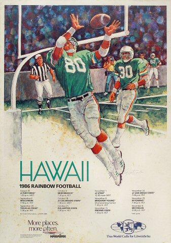 Rainbow Football Poster