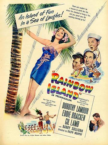 Rainbow Island Vintage Ad