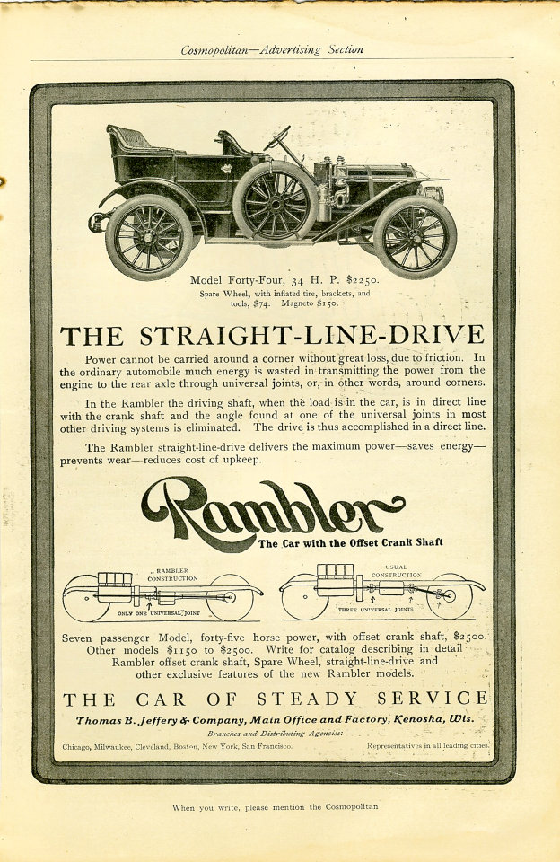 Rambler: Model Forty-Four Vintage Ad