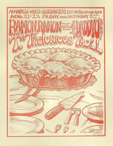 Ramon Ramon and the Four Daddyo's Handbill