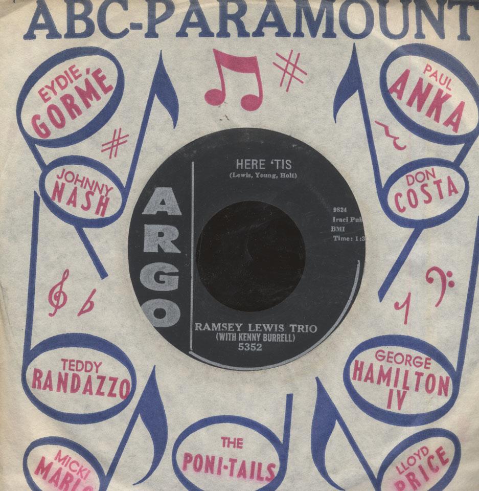 "Ramsey Lewis Trio / Kenny Burrell Vinyl 7"" (Used)"