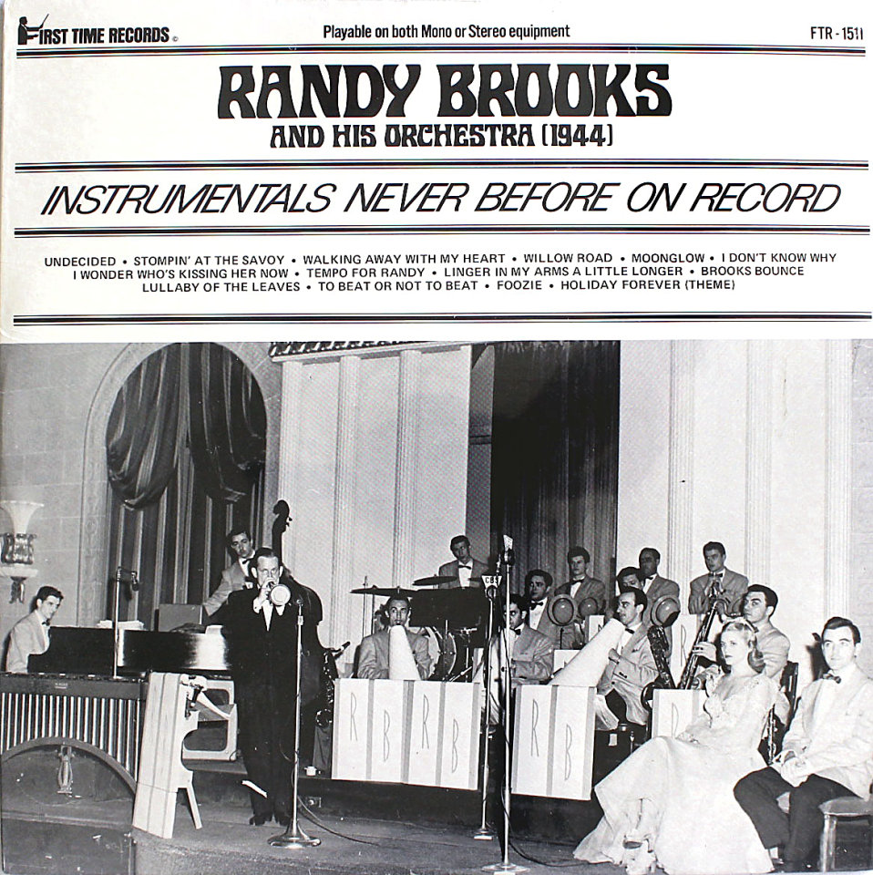 "Randy Brooks And His Orchestra Vinyl 12"" (New)"