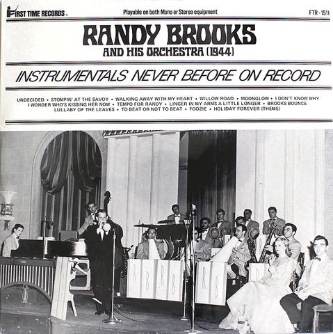 """Randy Brooks And His Orchestra Vinyl 12"""" (New)"""