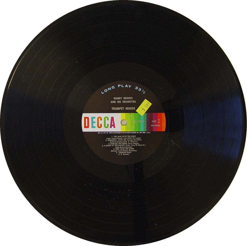 """Randy Brooks And His Orchestra Vinyl 12"""" (Used)"""