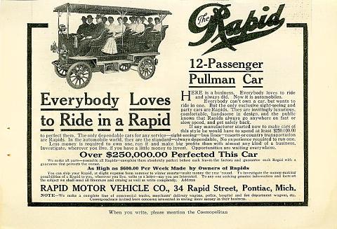 Rapid Pullman: 12-Passenger Vintage Ad
