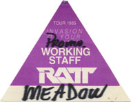 Ratt Backstage Pass
