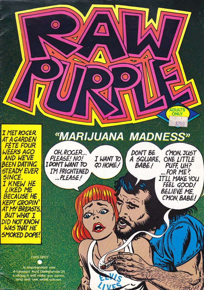 Raw Purple Comic Book