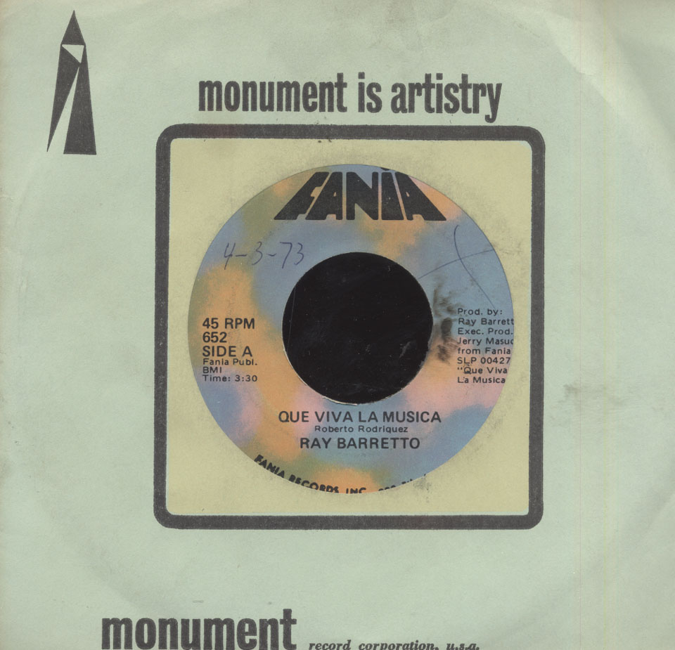 "Ray Barretto Vinyl 7"" (Used)"