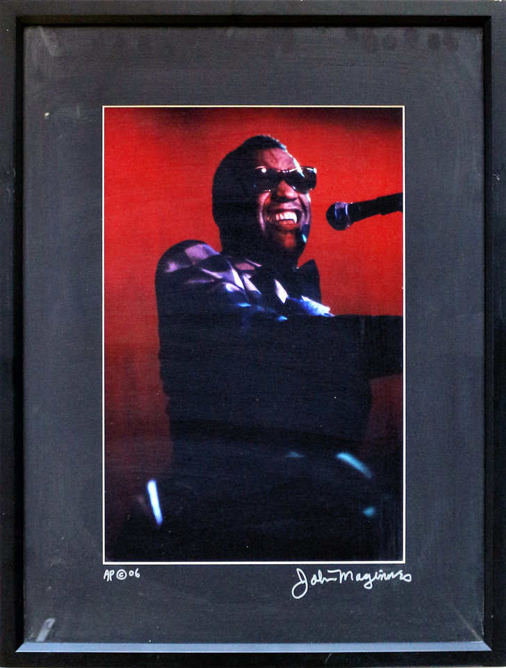 Ray Charles Framed Vintage Print