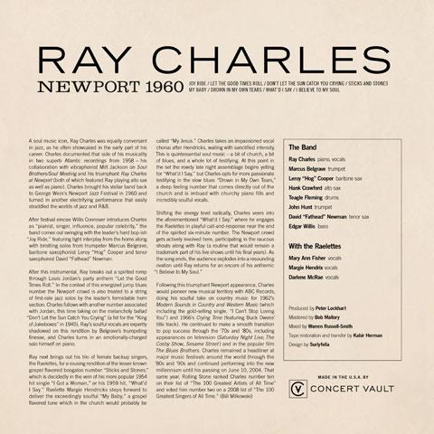 "Ray Charles Vinyl 12"" (New) reverse side"