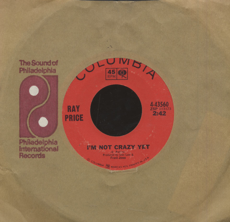 ray price vinyl 7 used 1966 at wolfgang 39 s. Black Bedroom Furniture Sets. Home Design Ideas