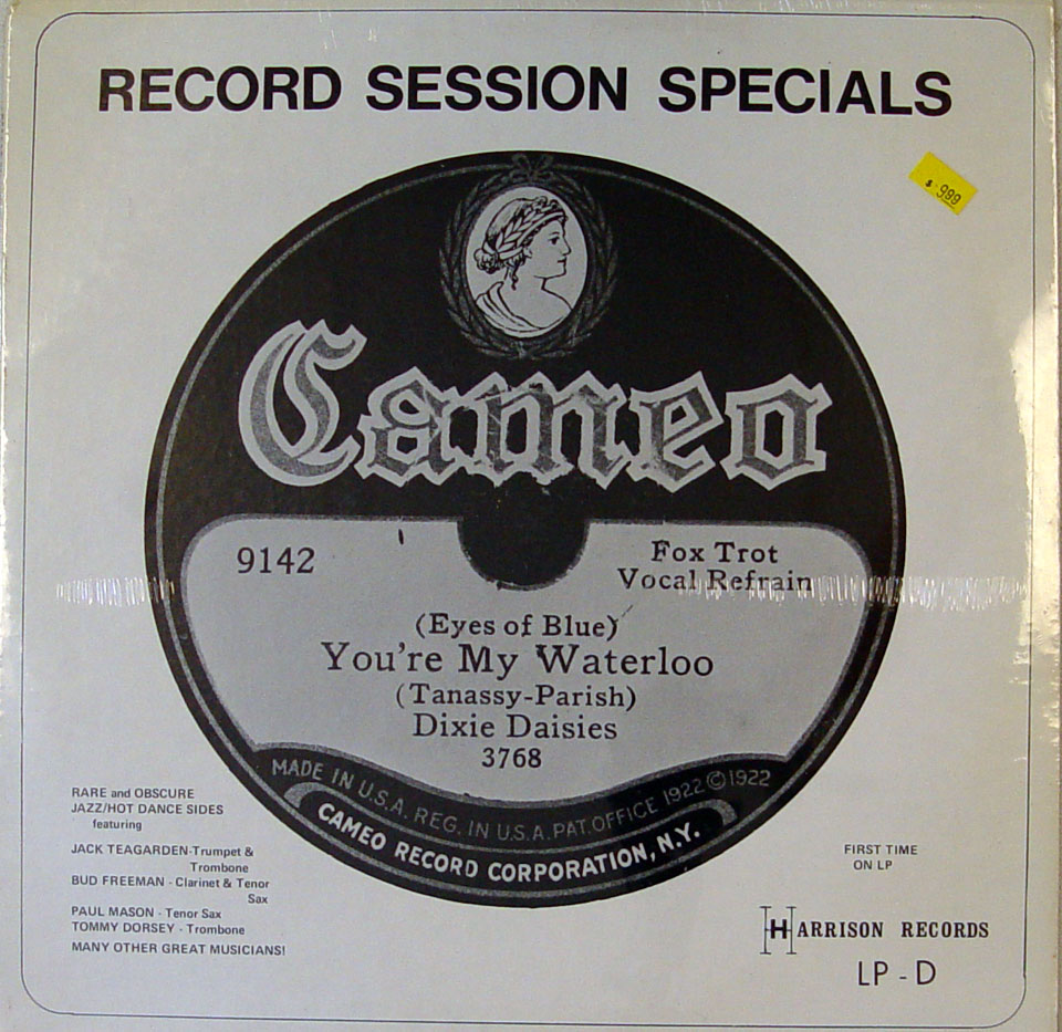 """Record Session Specials: You're My Waterloo Vinyl 12"""" (New)"""