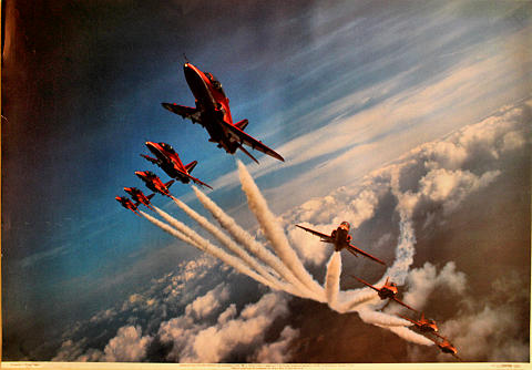 Red Arrows Over Lincolnshire Poster