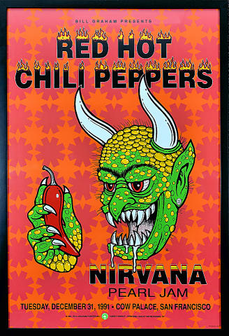 Red Hot Chili Peppers Framed Poster