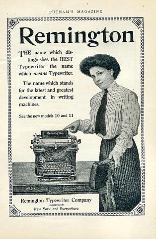 Remington Typewriter Vintage Ad