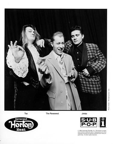 Reverend Horton Heat Promo Print