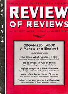 Review of Reviews and World's Work Vol. LXXXIX No. 5 Magazine