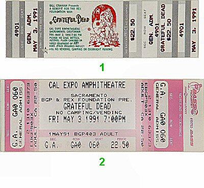 Rex Foundation Benefit Vintage Ticket