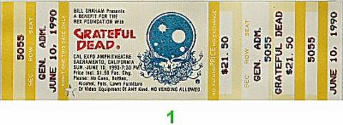 Rex Foundation Benefit Vintage Ticket