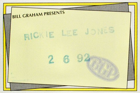 Rickie Lee Jones Backstage Pass