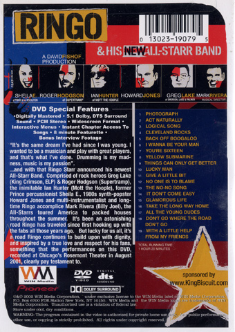Ringo Starr DVD reverse side