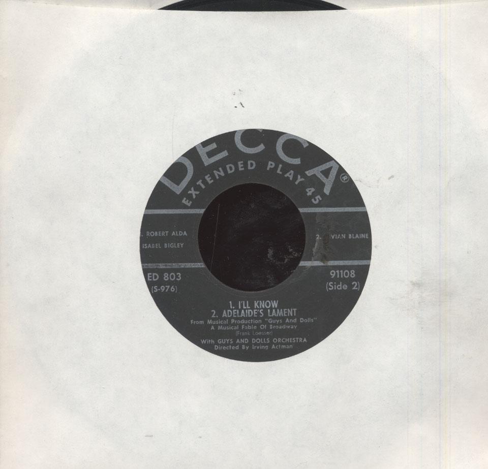 "Robert Alda Vinyl 7"" (Used)"