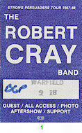 Robert Cray Band Backstage Pass