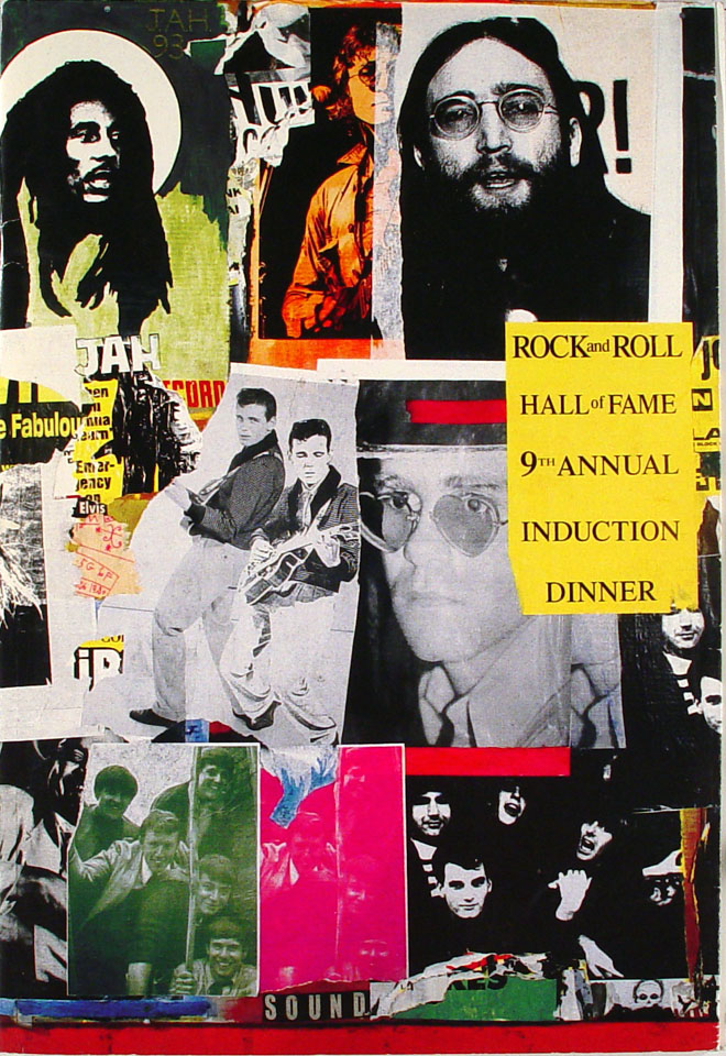 Rock & Roll Hall Of Fame Induction Dinner Program