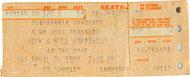 Rock & Roll Marathon Vintage Ticket
