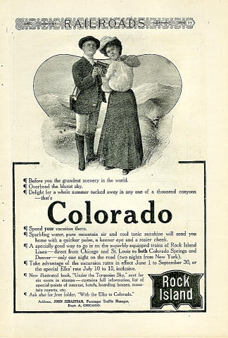Rock Island Railroad: Colorado Vintage Ad
